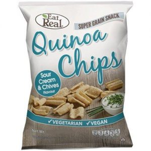 Eat Real Quinoa Chips. Sour Cream & Chives