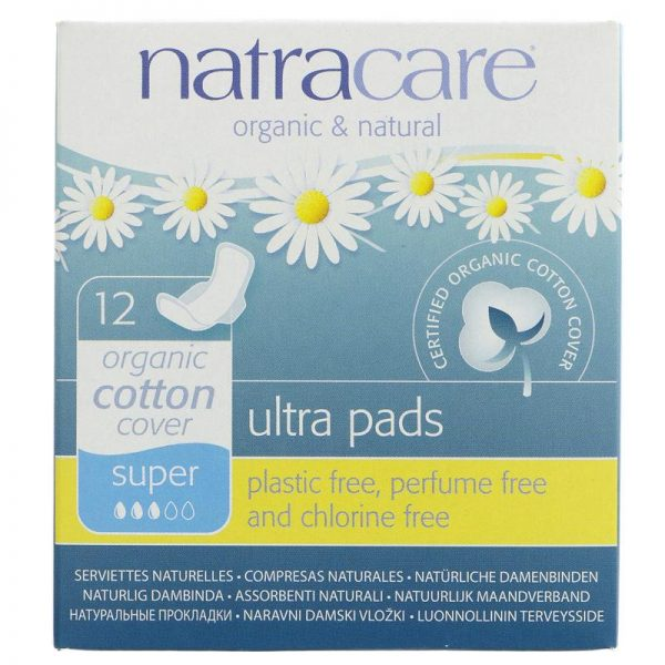 Natracare Ultra Super Pads with Wings